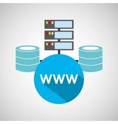 www language data base storage vector image