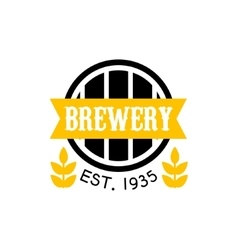 Brewery Logo Design Template vector image vector image