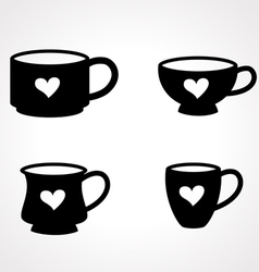 coffee glass vector image vector image