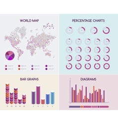 flat infographic concept vector image