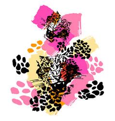 Leopard exotic wild cat pattern vector