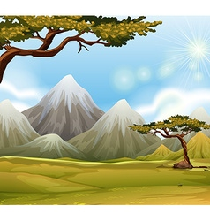 Mountain with snow on top vector image