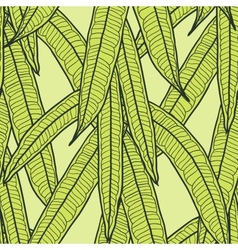 Seamless natural pattern with long leaves vector image vector image