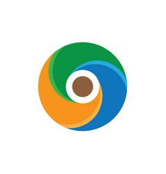abstract circle swirl logo image vector image