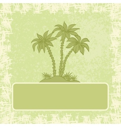 Exotic background palm and frame vector image
