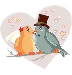 Love Birds Cartoon vector image