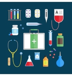Medical Healthcare Equipment Icon Set vector image vector image