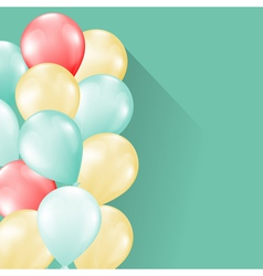 balloons soft background vector image vector image