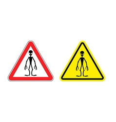 Warning sign of attention aliens Hazard yellow vector image vector image