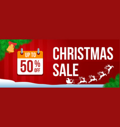 christmas sale banner 2 vector image vector image