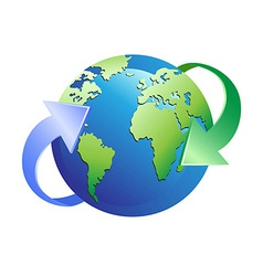 earth with arrows around vector image vector image