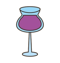 glass cup cocktail drink vector image