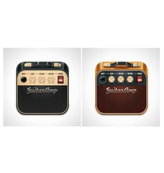 guitar amplifier square icon vector image vector image