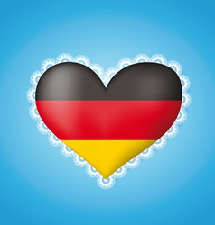 Heart shape flag of germany vector