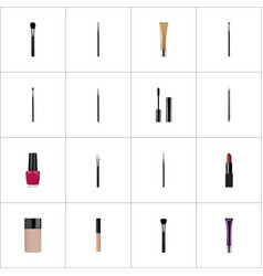 realistic beauty accessory concealer brush and vector image