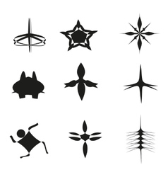 Set of nine symbols vector image