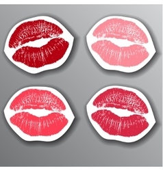 The lips stickers set design element vector image