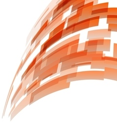 Abstract orange rectangles technology background vector image