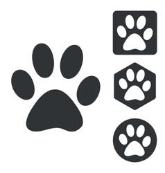 Animal icon set monochrome vector image