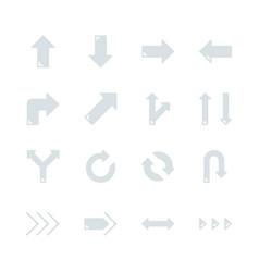 arrows in flat icon set design vector image