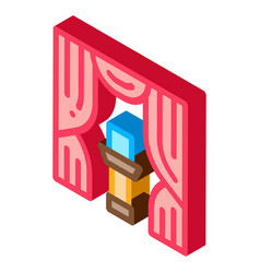 Auction appearance isometric icon vector