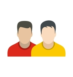 Avatar two men flat icon vector