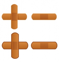 band aid plaster strip icon vector image