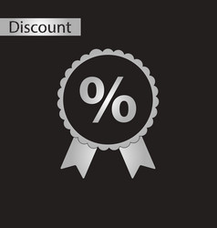 Black and white style icon discount ribbon vector
