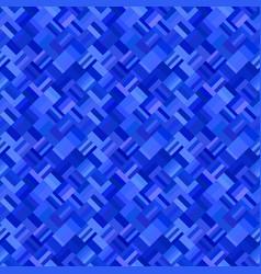 blue abstract diagonal rectangular tile mosaic vector image