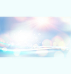 Blue bokeh abstract light background white bokeh vector
