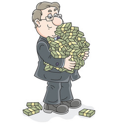 Businessman with money vector