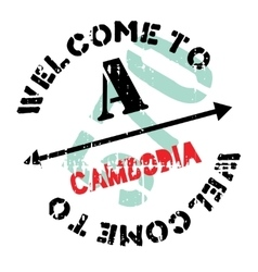 Cambodia stamp rubber grunge vector