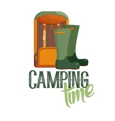 Camping time logo vector image