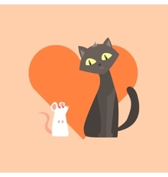 Cat And Mouse Friendship Image vector