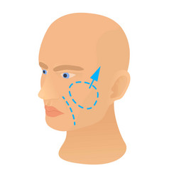 cheek plastic correction icon cartoon style vector image