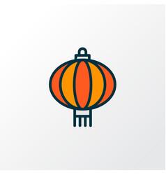 chinese lantern icon colored line symbol premium vector image