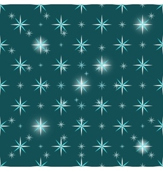 Christmas snowflakes seamless green background vector image