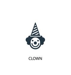 clown icon simple element vector image