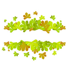 colorful autumn leaves green autumn sale frame vector image