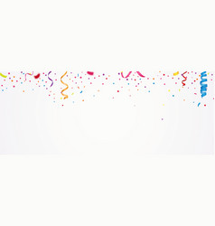 Colorful confetti banner vector