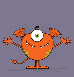 cute monster character with welcoming open arms vector image