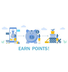 Earn points for purchase concept vector