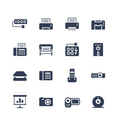 Electronics and gadgets icon set surge suppressor vector