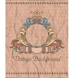 emblem on vintage background vector image