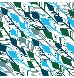 Ethnic Geometrical Feather pattern background vector image