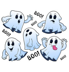 Ghosts thematic set 1 vector