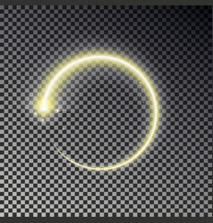 glow circle light effect round magic yellow frame vector image