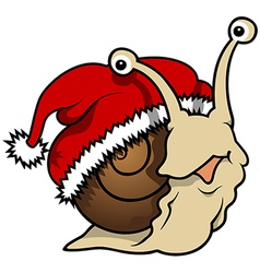 Happy Christmas Snail vector image