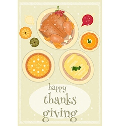 Happy Thanksgiving food vector