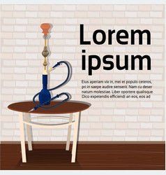 hookah on table over background with copy space vector image